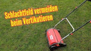 Rasen schonend vertikutieren ohne ein Schlachtfeld im Garten zu hinterlassen
