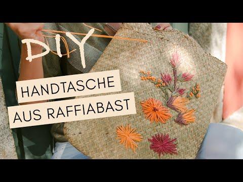 DIY HANDTASCHE Strohtasche mit Raffiabast besticken feat. JELENA im Piemont