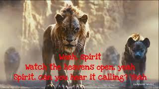 Beyonce  Spirit The Lion King (Lyrics)