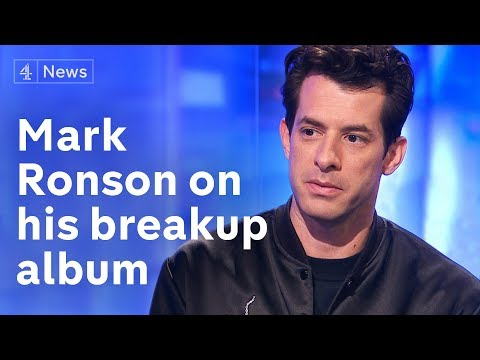 Mark Ronson Interview (extended) On His Break-up Album Late Night Feelings - Channel 4 News