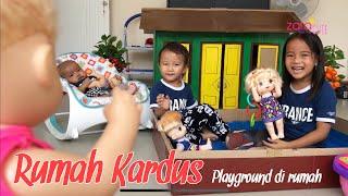 Baby Alive main ke Rumah Kardus Zara Cute | Membuat Playground Sederhana di Rumah