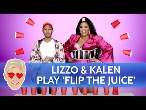 Lizzo and Kalen Play 'Flip the Juice'