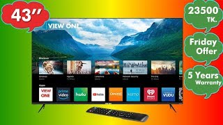 View One 43 Inch SMART Android LED TV Review 2018 Model Unboxing ।। Mehedi360