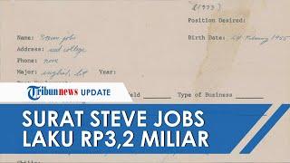 Berusia 48 Tahun, Surat Lamaran Tulisan Tangan Steve Jobs Laku Rp3,2 Miliar dalam Sebuah Lelang