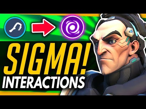 Overwatch | SIGMA - All Ability Interactions vs EVERY HERO - We Test EVERYTHING