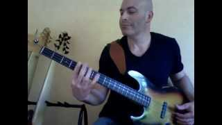 Yves Carbonne ~ 1964 (lefty) Fender Jazz Bass + WaterFall Bass from JAM pedals