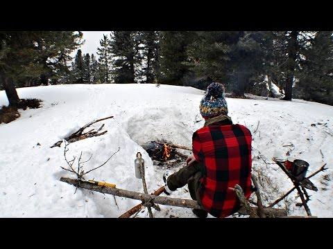 Treppiede bushcraft usi diversi - tripod uses - PeschoAnvi