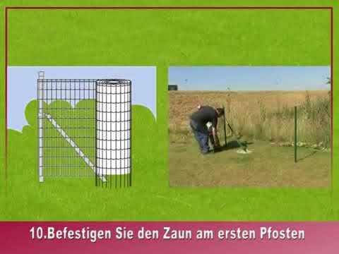 Geschweisstes Gitter Montageanleitung 2. (Eurofence, Pantanet, Fortinet, Garden)