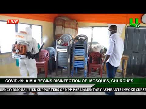 Covid-19: AMA Begins Disinfections Of  Mosques, Churches