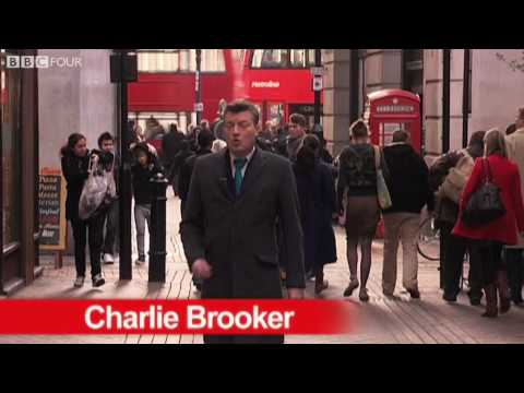 Charlie Brooker of BBC Four accurately details how an average news report is structured.