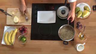 Готовим дома: овсяная каша с фруктовым соусом #icookрецепты