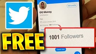 Free Twitter Followers 💙 How to get Free Twitter Followers 2020! iOS iPhone & Android WORKING!