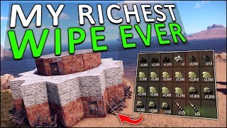 SECURING my BASE with my RICHEST WIPE EVER! - Rust Solo #5