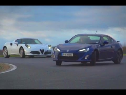 Alfa Romeo 4C vs Porsche Cayman vs Toyota GT86 / Scion FT86 - sportscar shootout