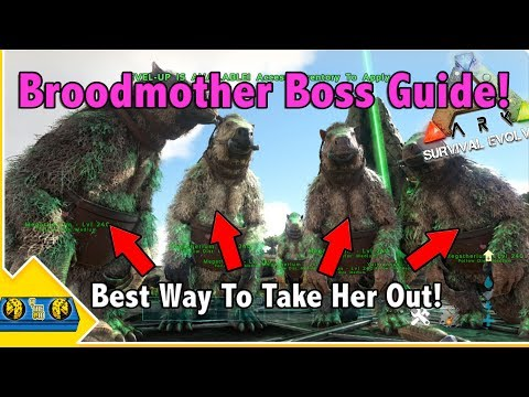 The Best Way To Deal With The Broodmother In Ark Survival Evolved! || Ark Boss Guides!