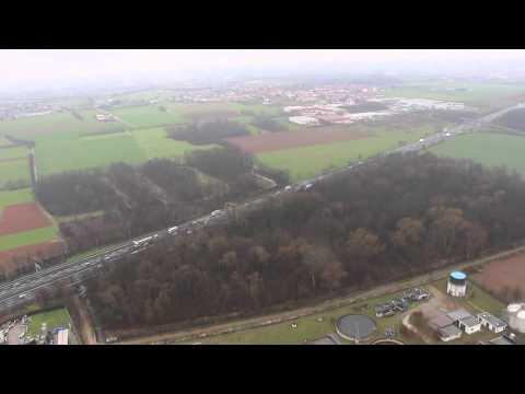 Autostrada A9 e svincoli visti dall'elicottero