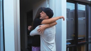 I flew across the world to surprise her!