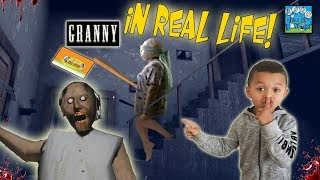 GRANNY THE HORROR GAME IN REAL LIFE! DINGLEHOPPERZ ESCAPE!