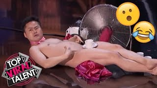 """Top 3 Men's """"UNEXPECTED & SHOCKING"""" Moments EVER That Will BLOW YOUR MIND - Got Talent World!"""