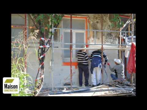 Rénovation façade maison ancienne (étapes)