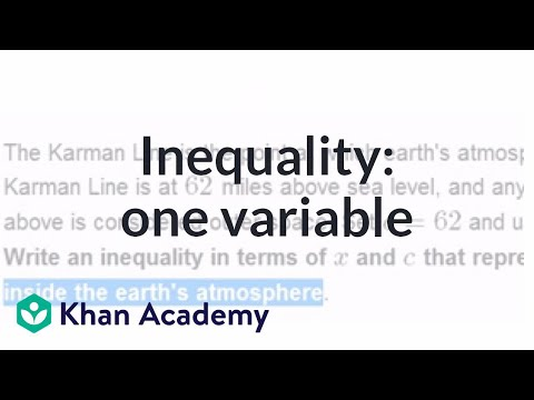 Inequality word problem: one variable (video) | Khan Academy