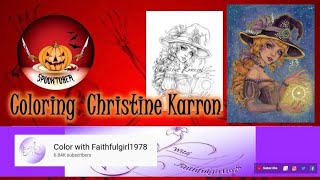 SPOOKTOBER USING NEOCOLOR II | Featuring Christine Karron