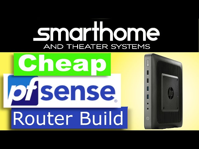 pfsense router build - cheap firewall as powerful as SG-5100
