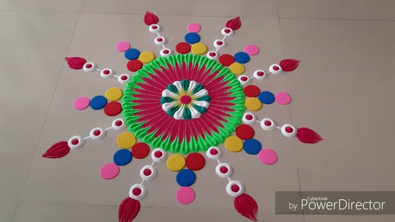 festival rangoli design by aarti shirsat