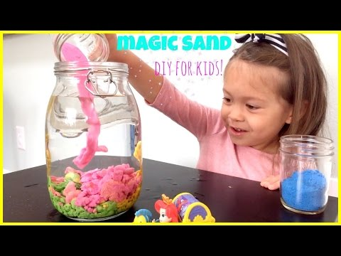 MAGIC SAND that never gets wet! Cool and Easy DIY How to for kids!