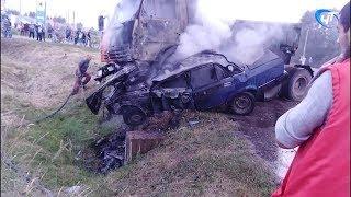 Смертельное ДТП произошло в новгородской деревне Лесная