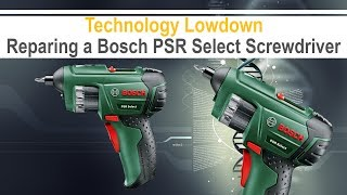 BOSCH PSR Select Electric Screwdriver - Battery Replacement