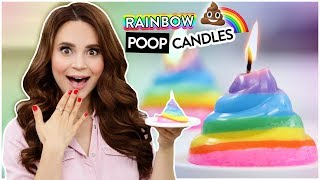 DIY RAINBOW POOP CANDLES