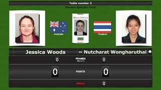 Snooker Women 1/4 Final : Jessica Woods vs Nutcharat Wongharuthai