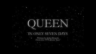 Queen - In Only Seven Days (Official Lyric Video)