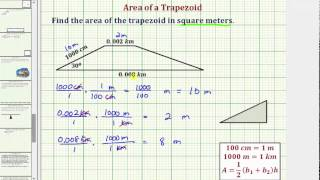 Ex: Find The Area Of A Trapezoid Using Conversions And Special Right Triangles (Rational)