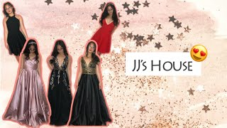VLOGMAS #6: JJsHouse Prom & Homecoming Dresses Try On + REVIEW! | Gwyneth Leigh