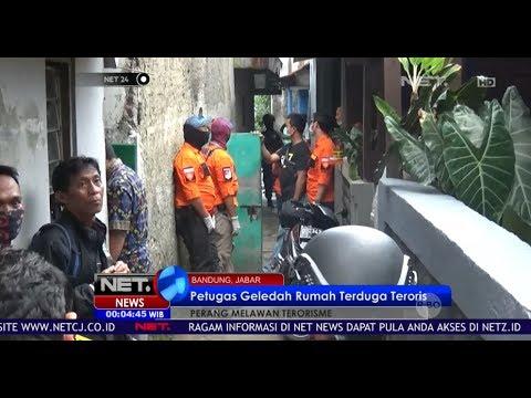Petugas Geledah Rumah Terduga Teroris Di Bandung Jawa Barat - NET 24