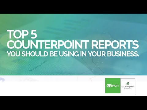 Top 5 Reports in NCR Counterpoint You Should Be Using