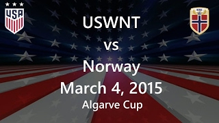 USWNT Vs Norway March 4, 2015