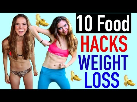 Video 10 Food Hacks For WEIGHT LOSS - VEGAN | NinaAndRanda