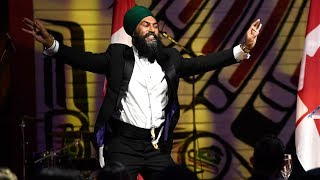 Singh pokes fun at Trudeau's bhangra dance moves during press gallery dinner