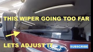 How to adjust rear wiper blades on 2012 Ford Expedition