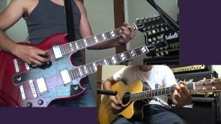 Coming Home by Cinderella Guitar Cover Gibson EDS-1275