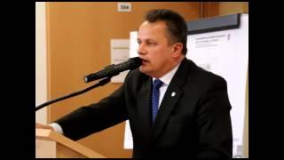 Wystąpienie burmistrza Marka Góraka w Dukli, podziękowania
