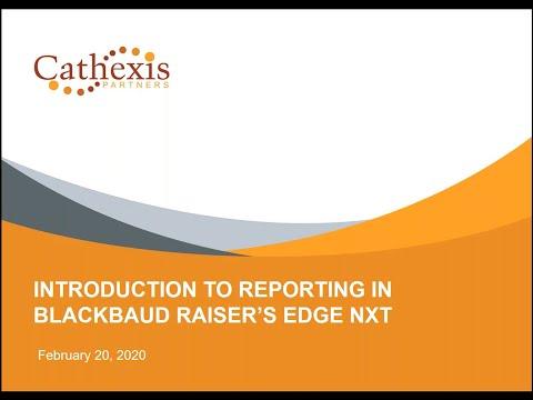 Reporting in Blackbaud Raiser's Edge NXT - YouTube