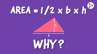 Why is the Area of a Triangle 1/2 X b X h? | One Minute Bites | Don't Memorise
