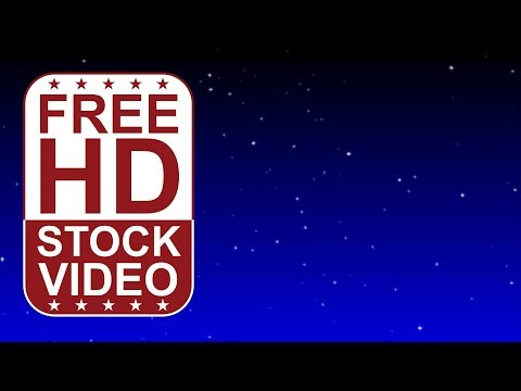 FREE HD video backgrounds - Night sky sparkling stars seamless loop