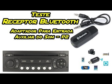 Teste Adaptador/Receptor de Audio Bluetooth p/ Entrada Auxiliar do Som do Carro