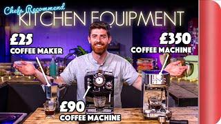 £25 Coffee Maker OR £350 Coffee Machine? | Chefs Recommend Kitchen Equipment Vol.3
