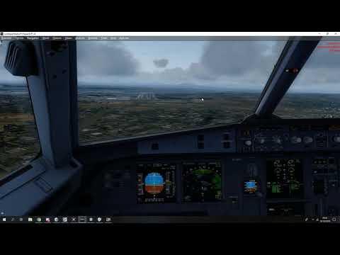 FULL Landing and Taxi at Madrid A319||P3DV4 - смотреть